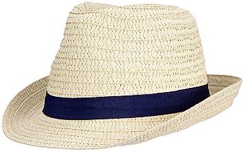 Waimea Boys' 23DG Java Straw Hat, Blanc/Navy Blue, One Size