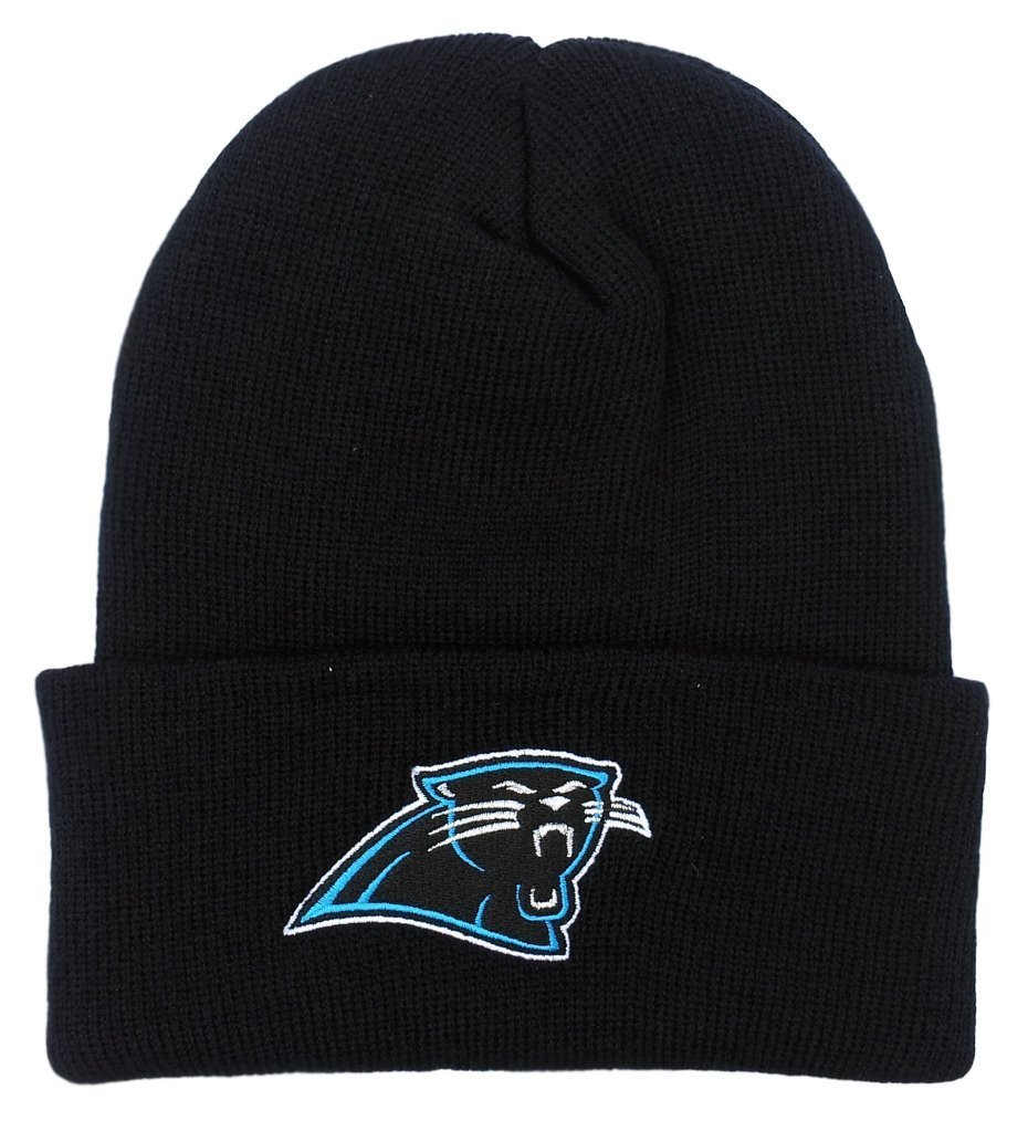 NFL End Zone Cuffed Knit Hat - K010Z, Carolina Panthers, One Size Fits All by Reebok (Image #1)
