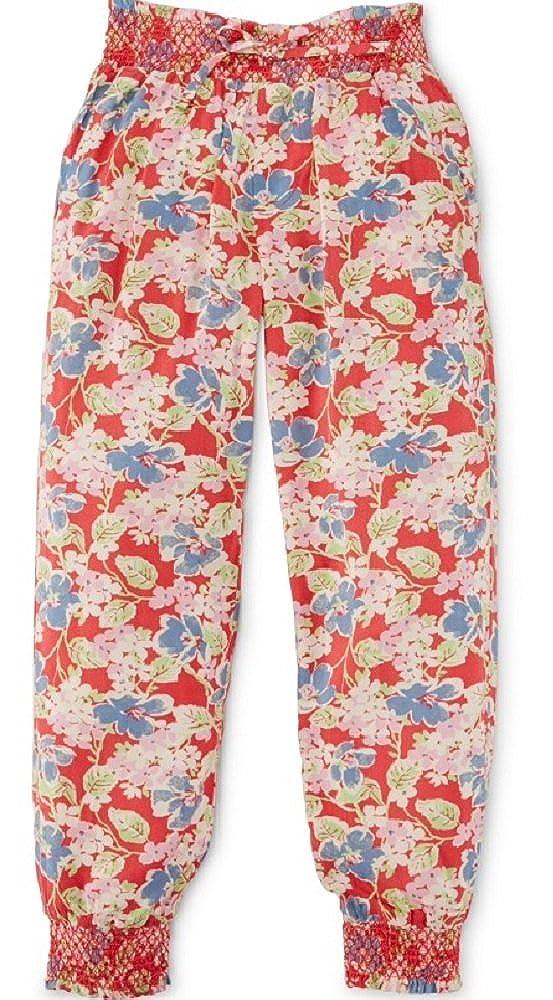 Ralph Lauren Girls Floral Print Pants Red