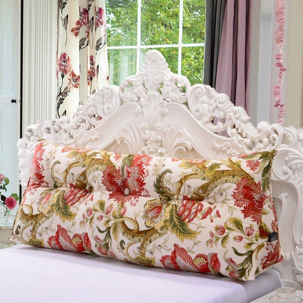 Backrest for bedside/bed rest/[korean],[cotton],canvas,cushion/two-person long pillow-Q 150x27x50cm(59x11x20inch)
