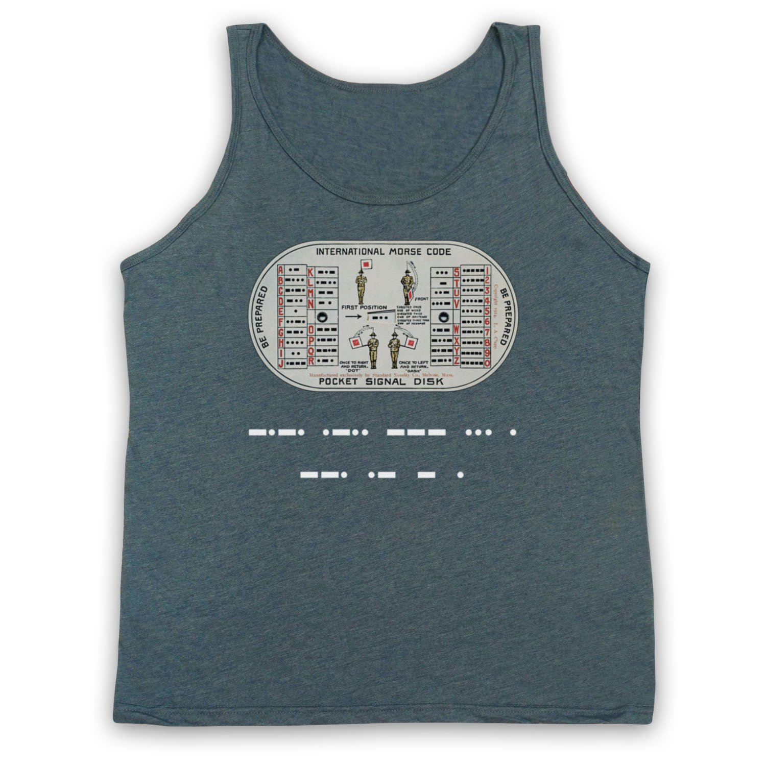0b352ff967b Inspired Apparel Inspired by Stranger Things Morse Code Close Gate  Unofficial Tank Top Vest  Amazon.co.uk  Clothing