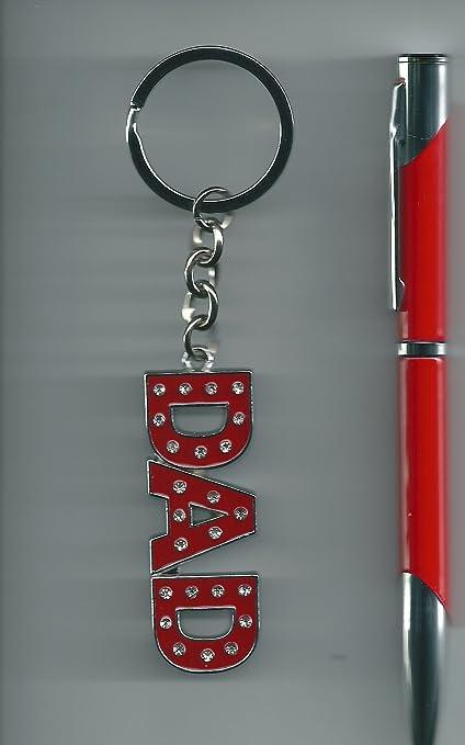 Bolígrafo y llavero Set de regalo de Dad (rojo, negro y azul ...