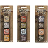 Ranger Tim Holtz Distress Mini Ink Pad Kits #7, #8 and #9 Bundle