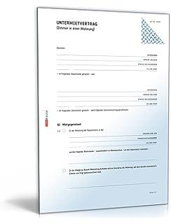 Mietvertrag möbliertes Zimmer [Word Dokument]: Amazon.de: Software