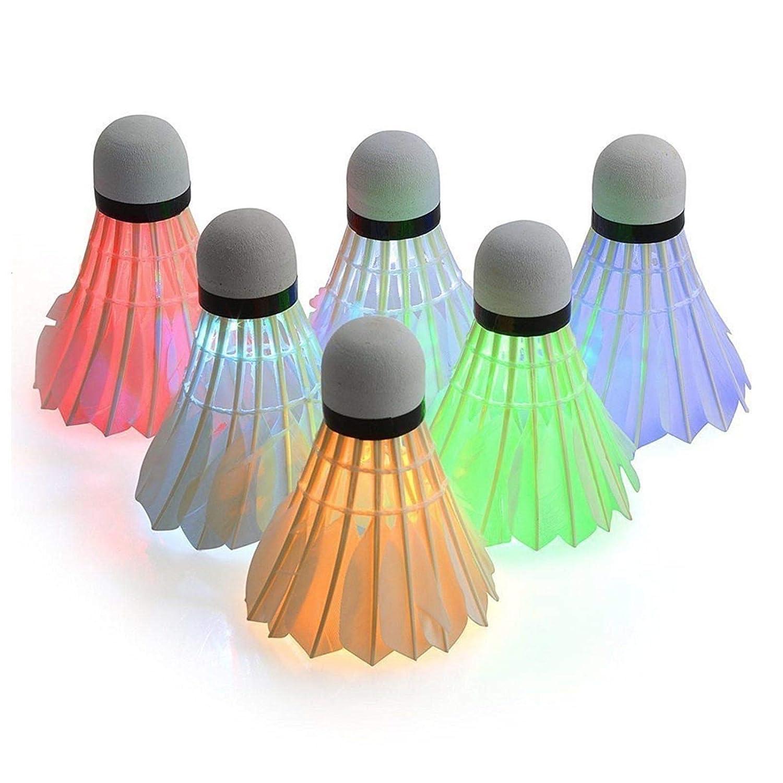 HotVinds 6 Pack LED Badminton Lighting Birdies Shuttlecock Glow in The Dark for Indoor//Outdoor Sports Activities
