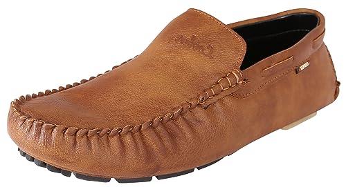 f37b471d35e Marshal Loofer Men s Tan Black Brown Chikoo Mehndi Synthetic Leather ...