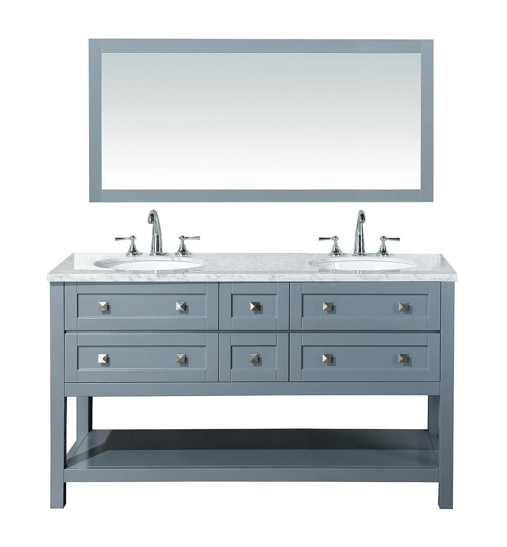 Stufurhome HD 6868G 60 CR Marla Double Sink Bathroom Vanity Set