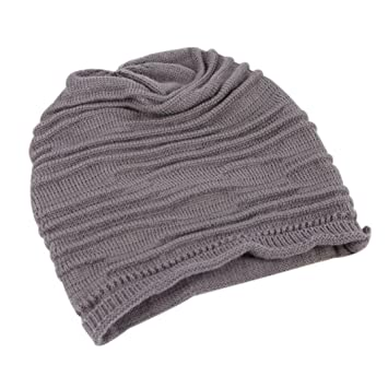 Amazon.com  YANG-YI 2017 Women Men Hats Winter Hat Baggy Beanie Knit  Crochet Hiphop Ski Slouch Cap (Deep Gray 5299195ee3d