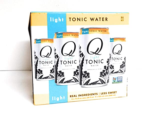Q Drinks Tonic Water 7.5 oz (4 pack) Lite, contains quinine