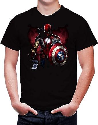Camiseta negra para hombre, hombre de hierro, Thor, Hawkeye ...