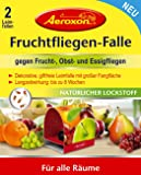 Aeroxon Fruchtfliegen-Falle, Leimfalle, 2-teilig (1 Set)