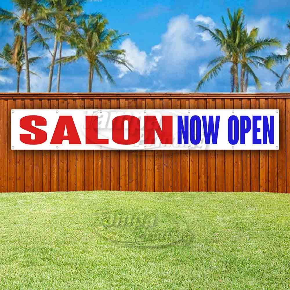 Many Sizes Available Flag, Store New Salon Now Open Extra Large 13 oz Heavy Duty Vinyl Banner Sign with Metal Grommets Advertising