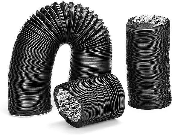 WhYlzh 1,5/3/6 M Dia.130mm Tubo de Escape de PVC de Aluminio del Aire de ventilación Extractor Flexible Manguera del Accesorios de Cocina Herramientas (Color : 6m, Product Size : Dia.130mm): Amazon.es: Hogar