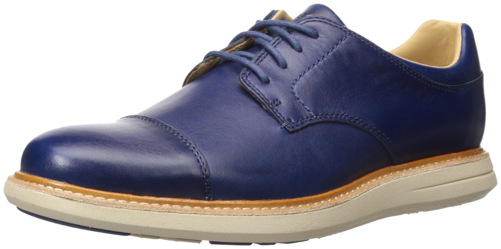 Sebago Men's Smyth Cap Toe Oxford, Navy Leather, 9 M US