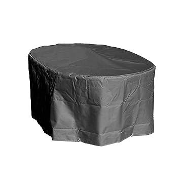 GREEN CLUB Housse de Protection Table Ovale de Jardin Haute qualité  Polyester L 250 xl 110 xh 70 cm Couleur Anthracite