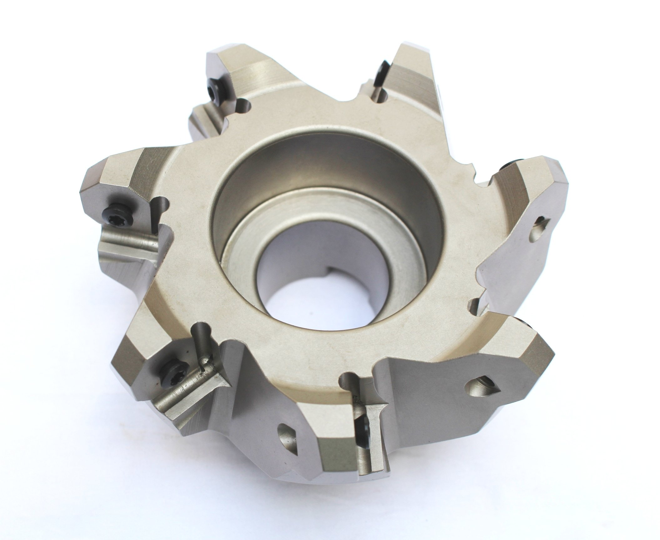 HHIP 2068-4000 4'' x 1-1/4'' Bore 45 Degree Octagon 7 Insert Index able Face Mill, 2-1/2'' OAL