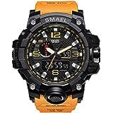 Smael Reloj Militar para Hombre Reloj De Pulsera Impermeable De 50 M Reloj De Cuarzo LED Reloj Deportivo Reloj Deportivo…