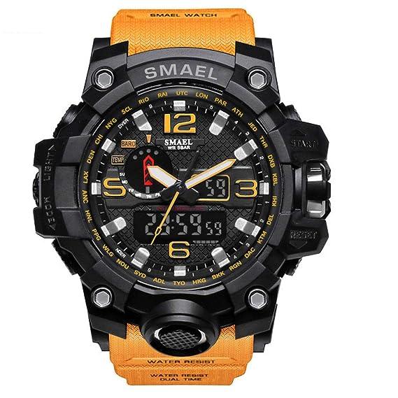 Reloj de Pulsera para Hombre de dial Doble Digital Reloj de Pulsera para Hombre de Negocios