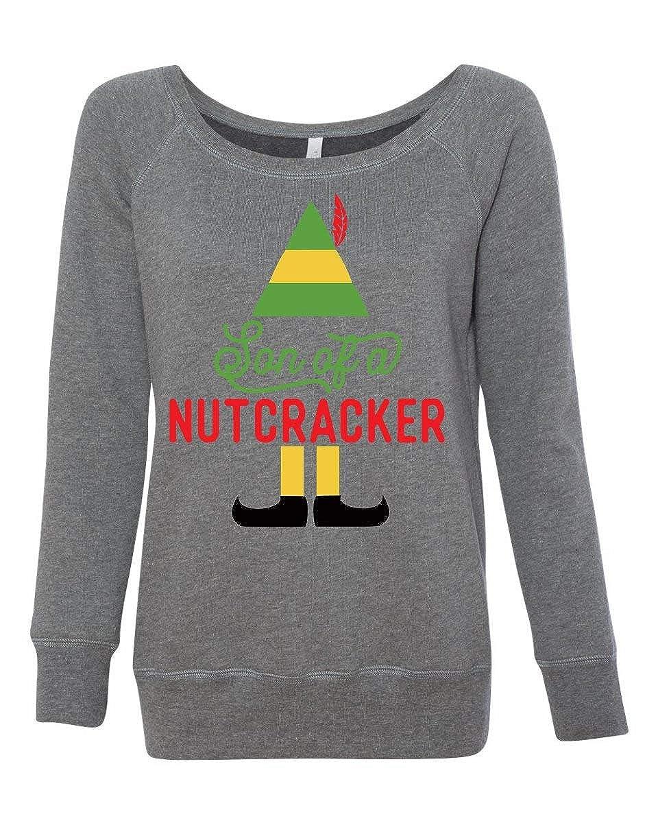 ec1eed0e LivingTees Son of A Nutcracker Elf Movie Sweater at Amazon Women's Clothing  store: