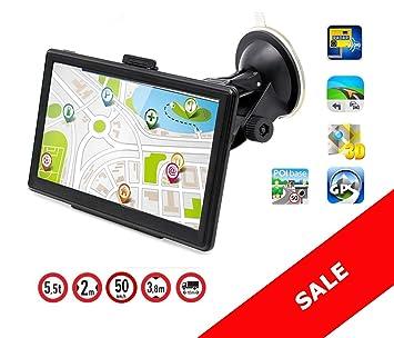 """GPS de 7"""" HD Navegador para Camiones y Coches Europa nuevos mapas 2018"""