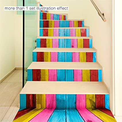 Home Decorating Ideas Gift Sticker Minimalist 3d Staircase Sticker (color  Wood Grain) Diy