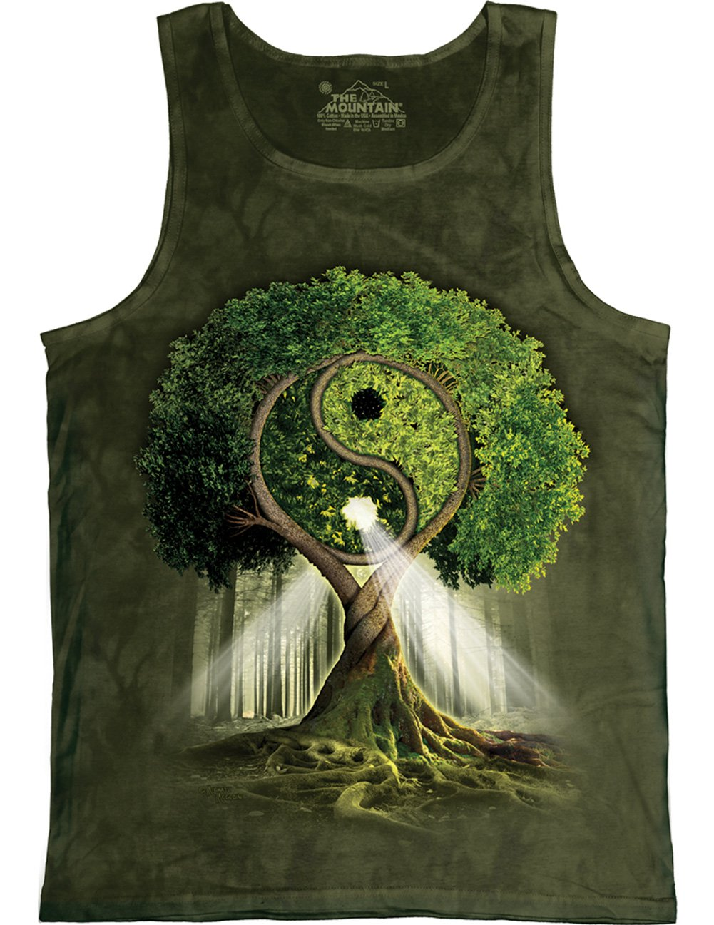 The Mountain Unisex Erwachsen Yin Yang Tree Tank Top: Amazon.de: Bekleidung