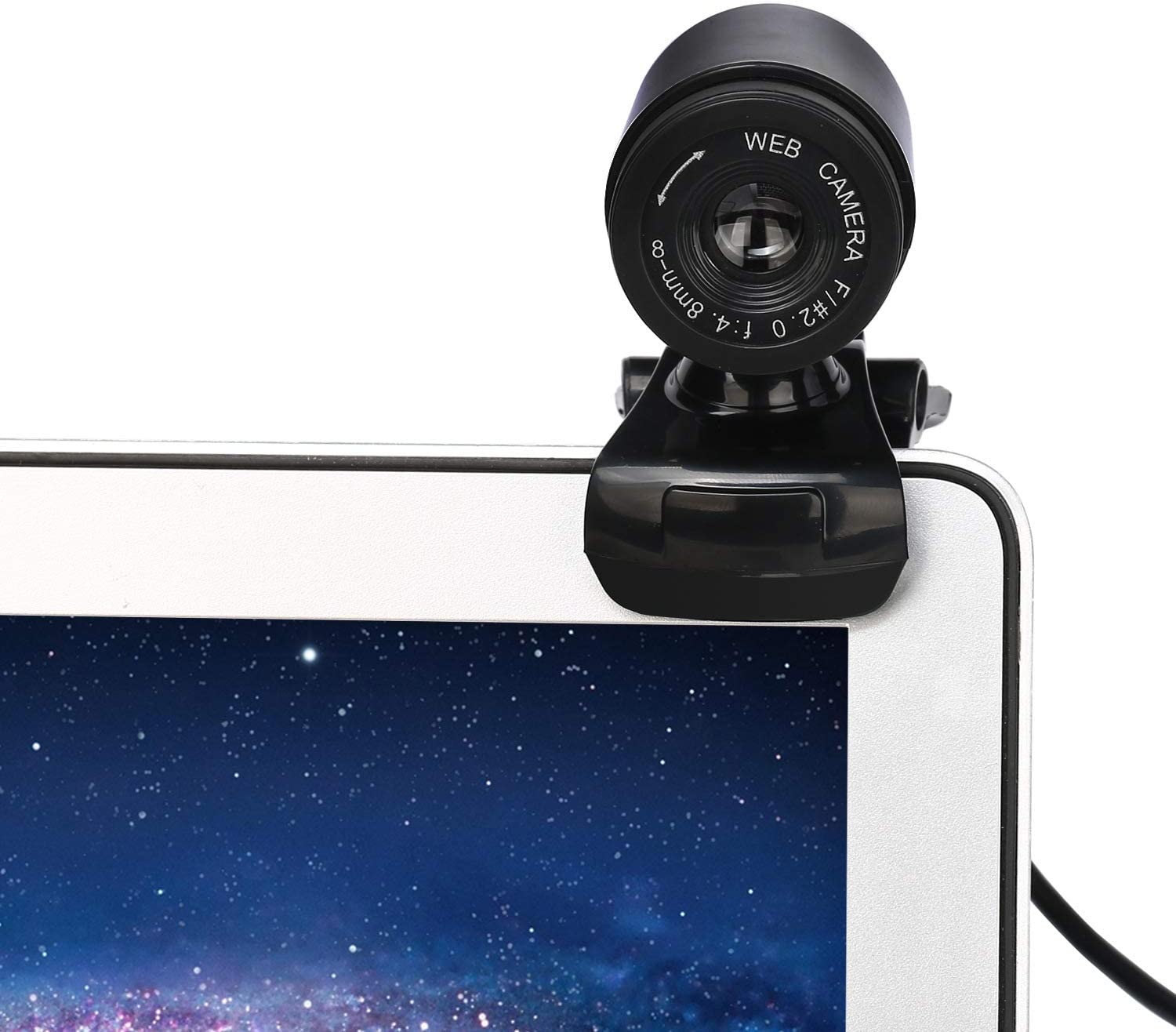 KCatsy USB Video Webcam 12MP 1080P HD Video Camera 360/°Rotation Adjustable Light Correcting Built-in Microphones Video Camera for Network Teaching Conference