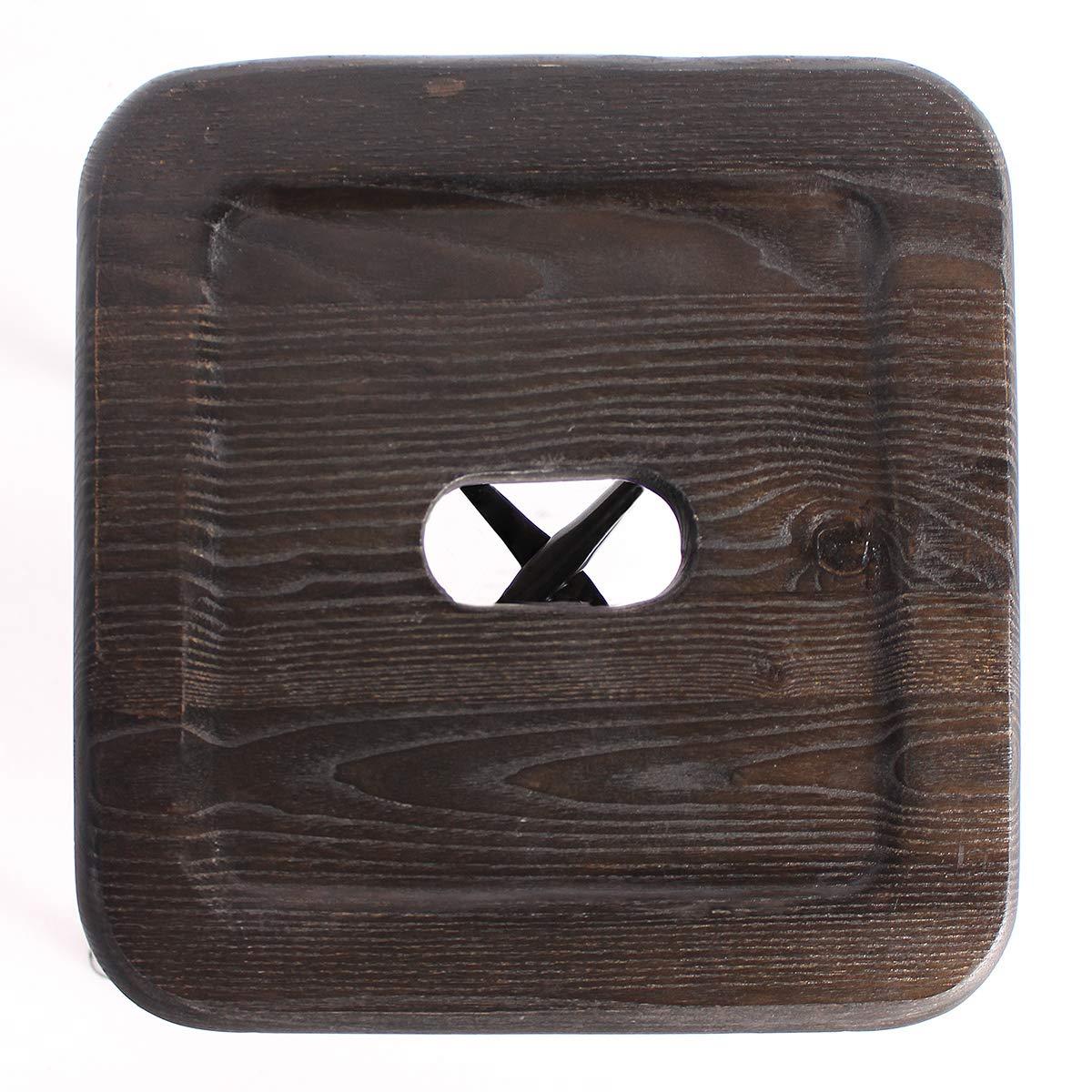 Buschman Metal Bar Stools 24'' Counter Height, Indoor/Outdoor and Stackable, Set of 4 (Regular Grey with Premium Wooden Seat) by Buschman Store