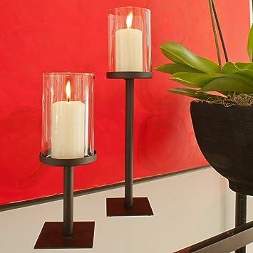 Windlicht ,,Magnusu201c Metall Mit Glaszylinder | Klassisch Und Edel |  Tischdeko | Accessoire