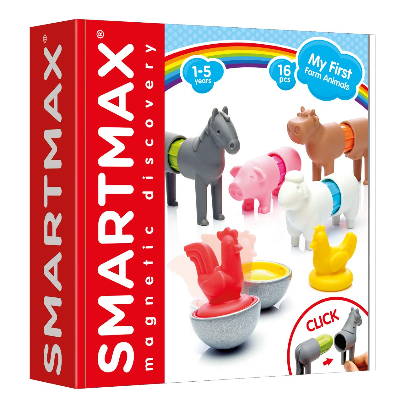SMART Toys and Games GmbH SMX 221 Smartmax My First Farm Animals 16 pi/èces Multicolore