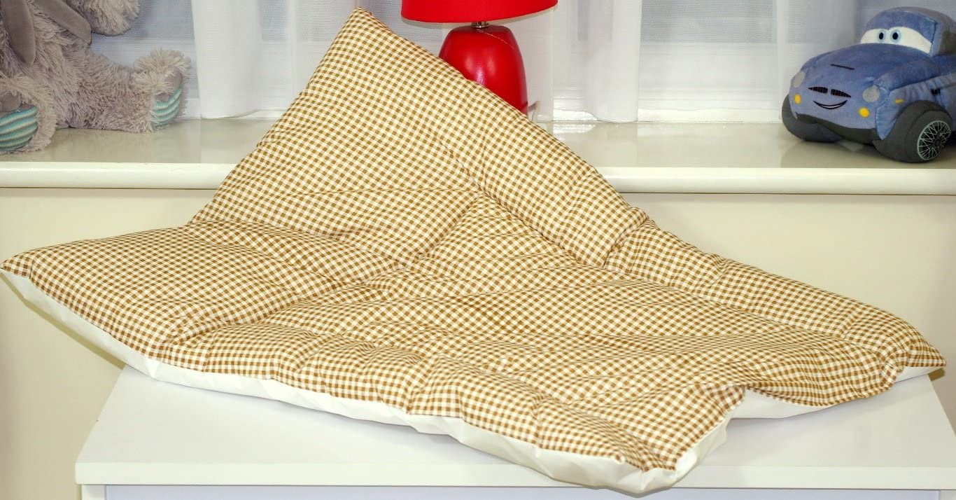 Babys Comfort Soft Padded Nursery Changing Mat Checkered Pink