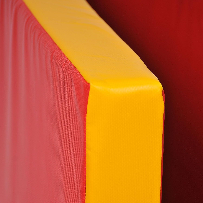 Folding Soft-Floor Mat 200 x 100 x 8 cm Red Yellow