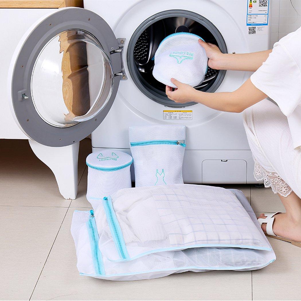 6/St/ück Mesh feine Taschen f/ür Waschmaschine gro/ße Netz W/äsche Kleidung Waschen Taschen Set f/ür BH und Dessous mit Rei/ßverschluss von abimars blau