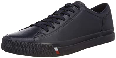 fa39bcae4aa3 Tommy Hilfiger Men s Corporate Leather Sneaker Trainers  Amazon.co ...