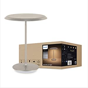 Philips Hue White Muscari Smart LED Table Lamp (Compatible with Amazon Alexa, Apple HomeKit, and Google Assistant)