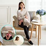 Fashion Cotton Shawl, Nursing Cover, Breastfeeding Scarf, with Adjustable Button Design, One-size-fits-all, No See-through, Breathable warmth, Suitable for All Seasons