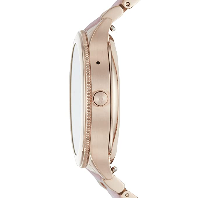Amazon.com: Fossil Q Womens Q Venture Touchscreen Watch with Stainless-Steel Strap, Pink, 18 (Model: FTW6010: Watches
