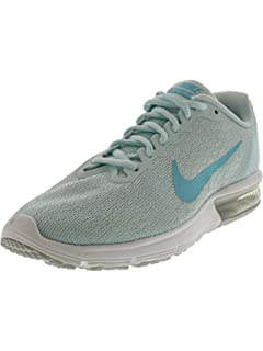 83fbec6840 Nike Women's Air Max Sequent 2 Pure Platinum/Polarized Blue Ankle-High Running  Shoe