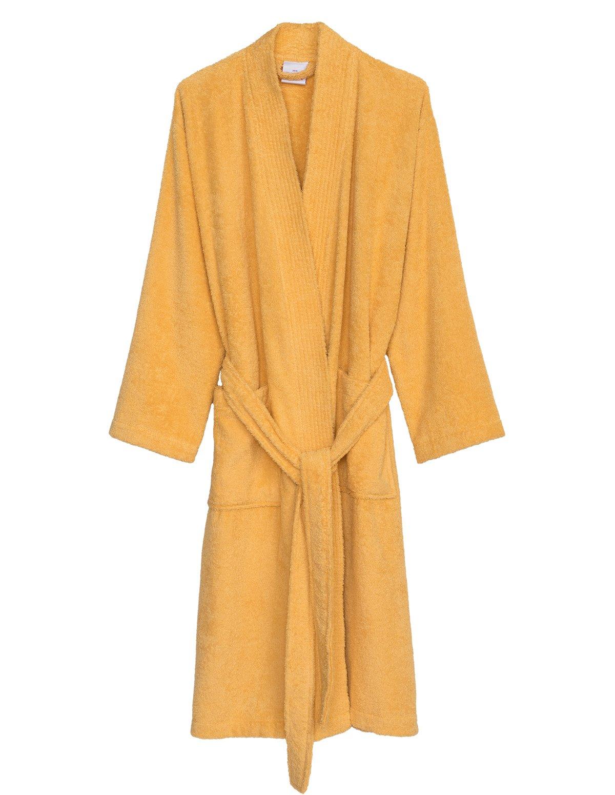 TowelSelections Women's Robe Turkish Cotton Terry Kimono Bathrobe X-Large/XX-Large Golden Cream