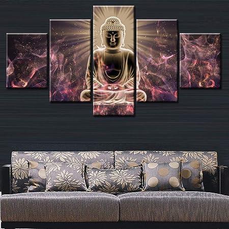Xianrenge Impression De Toile De Panneau 5 Statue Du Bouddha