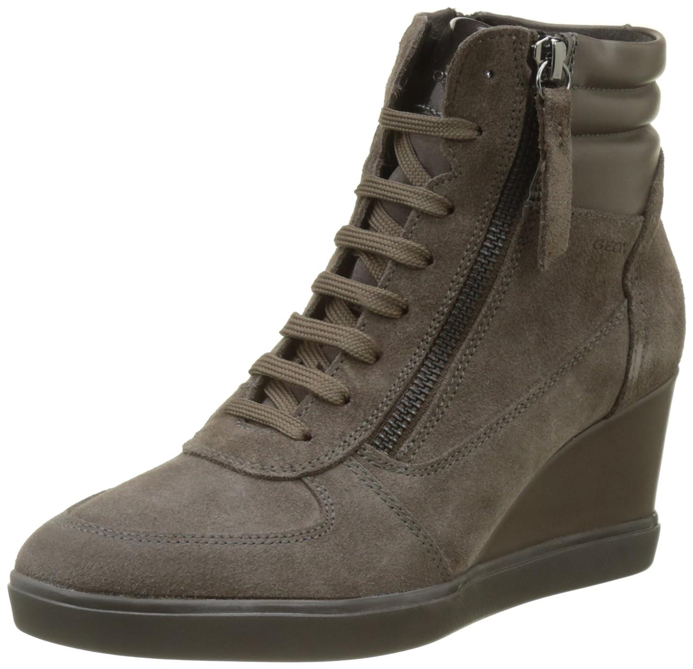 Geox D Eleni a, Zapatillas Altas para Mujer 41 EU Marrón (Chestnut)