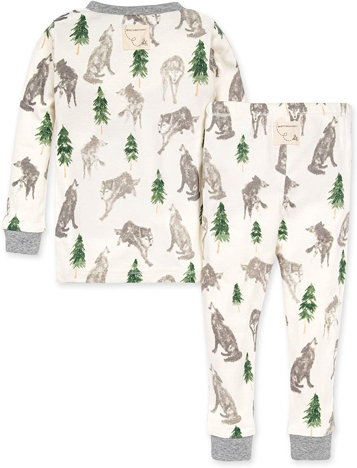 100/% Organic Cotton Alpha Dog Burts Bees Baby Baby Boys Pajamas Tee and Pant 2-Piece PJ Set 2 Toddler