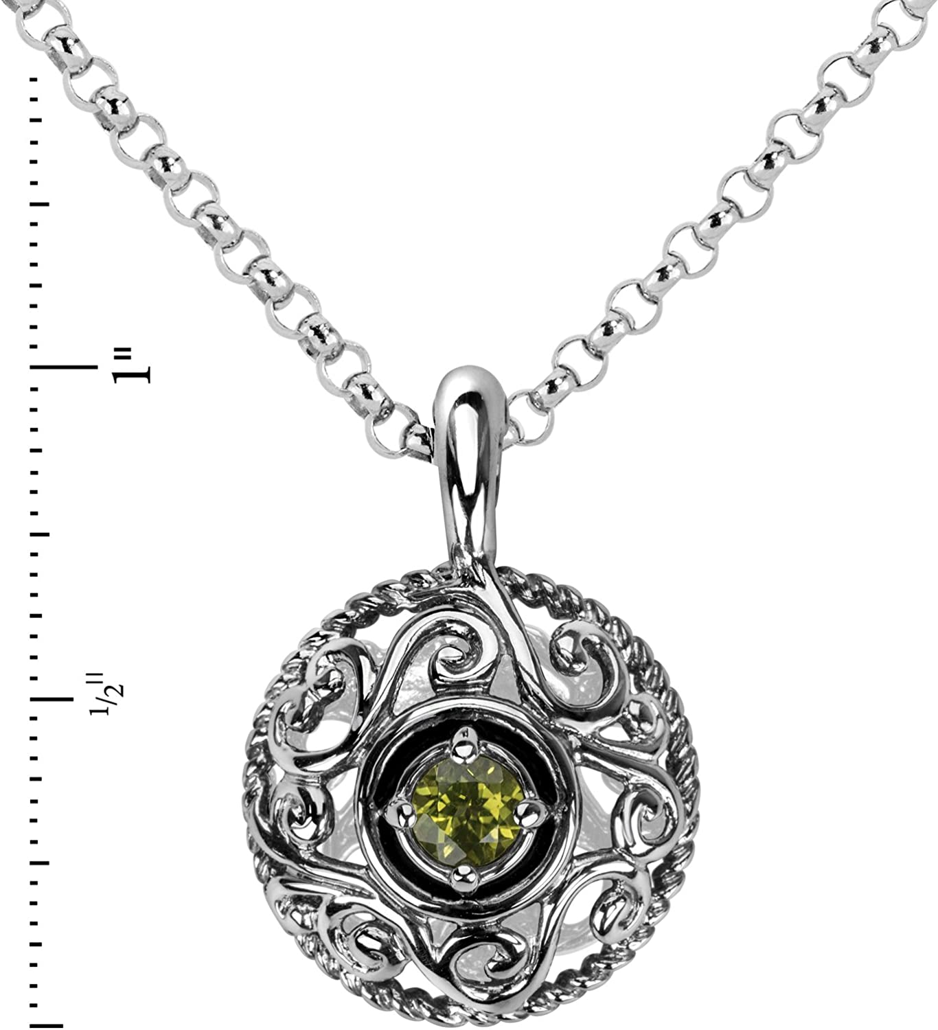 16 to 18 Chain Carolyn Pollack Sterling Silver Genuine Gemstone Birthstone Pendant Necklace