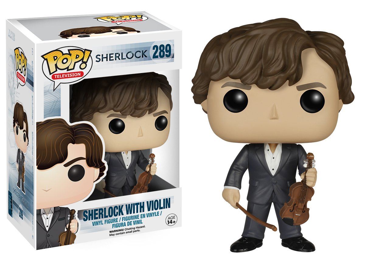 Funko POP TV Sherlock Holmes with Violin Action Figure 6051 Accessory Toys /& Games Miscellaneous Sherlock