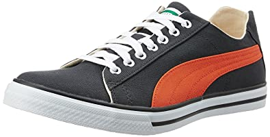 Puma Men's Hip Hop 6 IDP Asphalt and Orange Sneakers - 3 UK/India (
