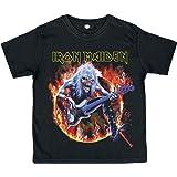 Iron Maiden Eddie Bass Camiseta de Niño/a Negro
