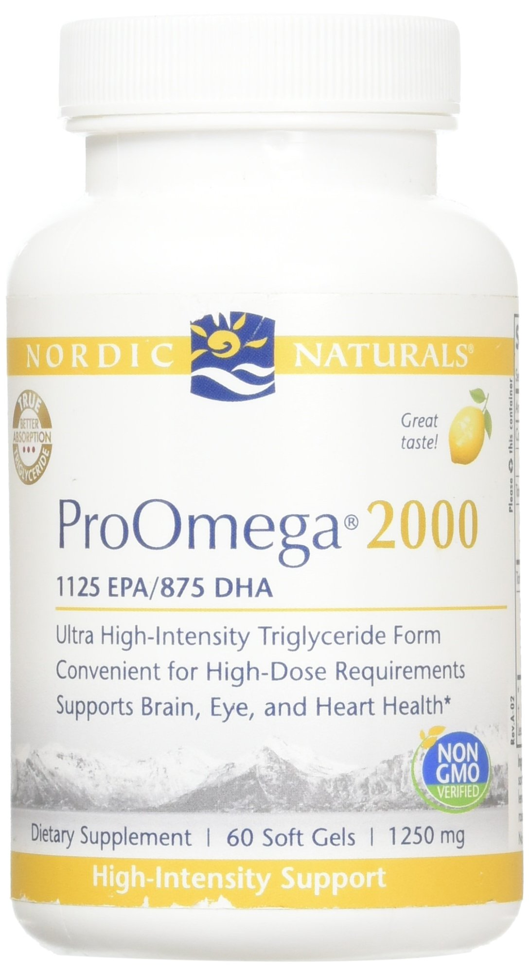 Nordic Naturals Pro - ProOmega 2000, Highest-concentration, Triglyceride-form Omega Oil