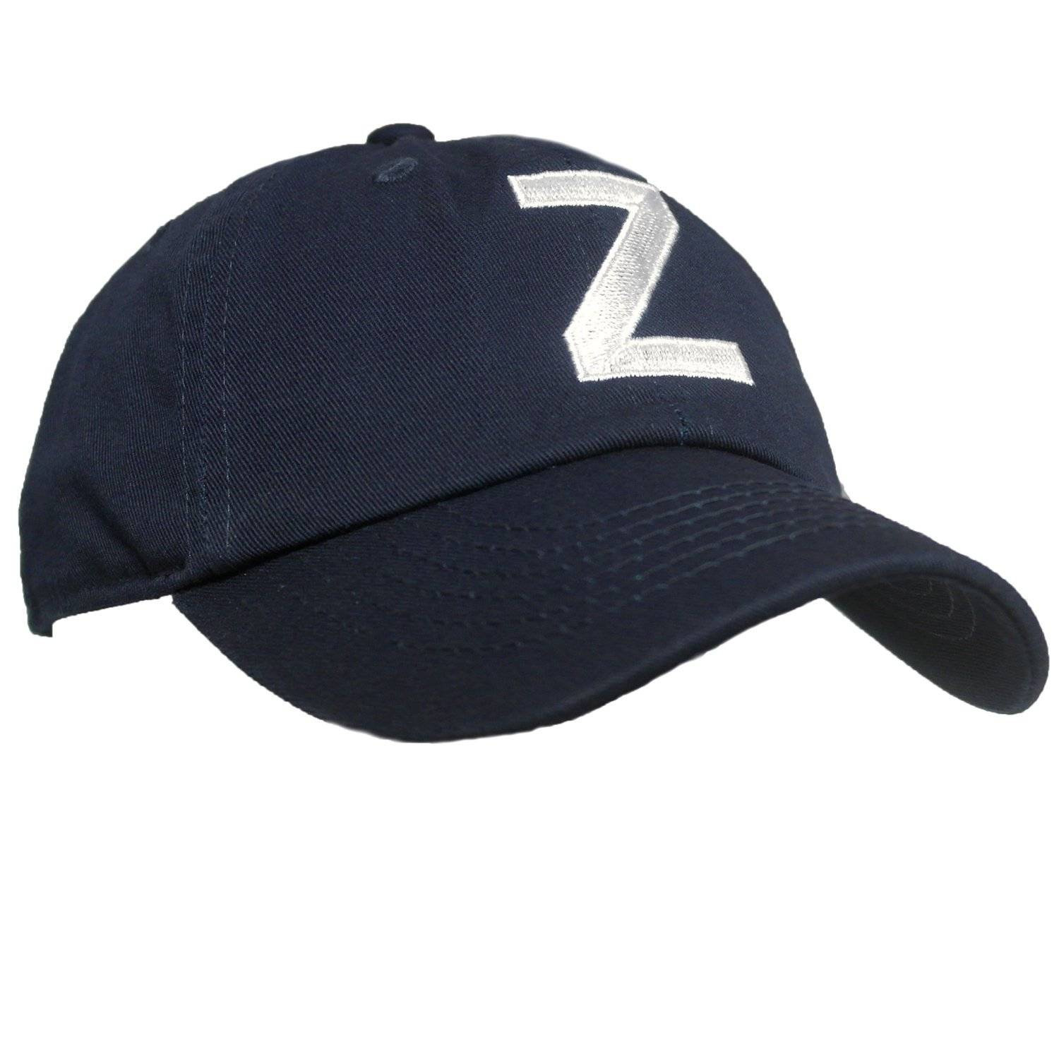 Tiny Expressions Toddler Boys' and Girls' Navy Embroidered Initial Baseball Hat Monogrammed Cap (Z, 2-6yrs)