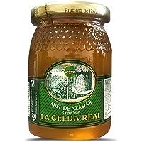 La Celda Real - Miel Natural 500g - 3 sabores diferentes: Miel Romero + Miel Azahar + Miel de Bosque - 100% Natural - Origen España (Miel de Azahar)