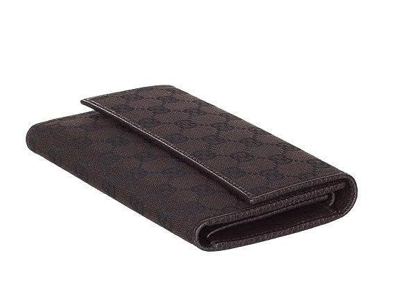53028b49e37 Gucci Women s 257303 Black Nylon GG Guccissima Wallet W Coin Pocket   Amazon.ca  Clothing   Accessories